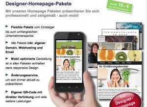 Designer Homepage Pakete