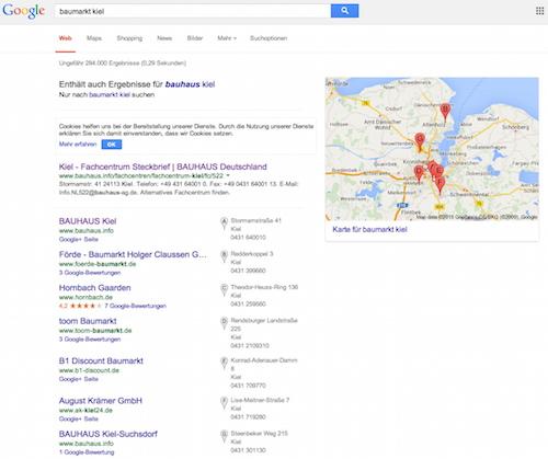 Bei Google gefunden werden