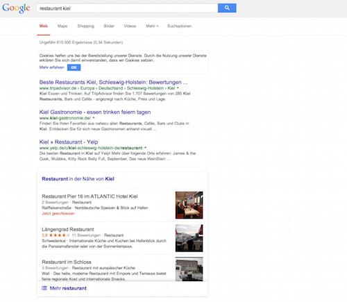 Abbildung 2 Neue Darstellung Hotels und Restaurants