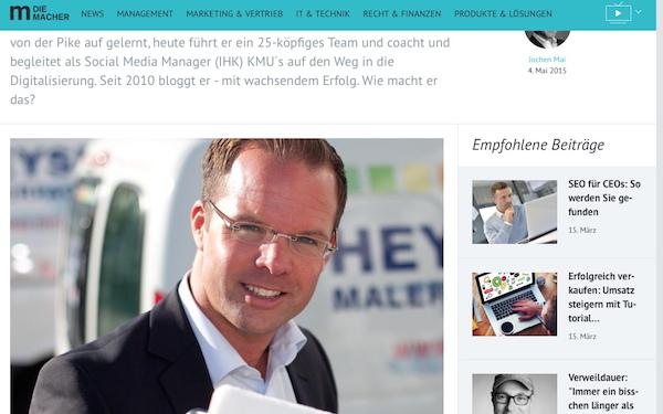 Bloggender Maler generierte 600.000 Euro durch Social Media